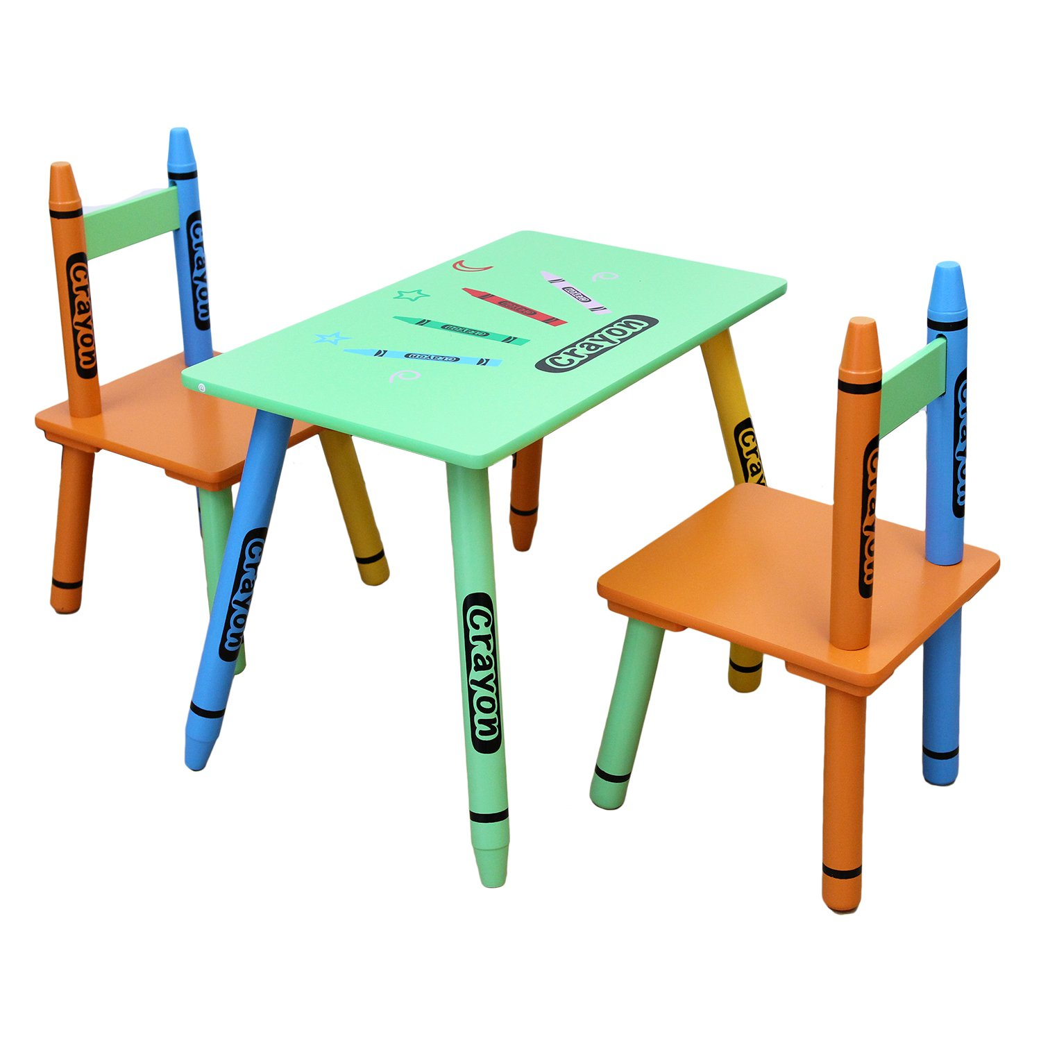 Bebe Style Childrens Wooden Table and Chair Set Green Amazon