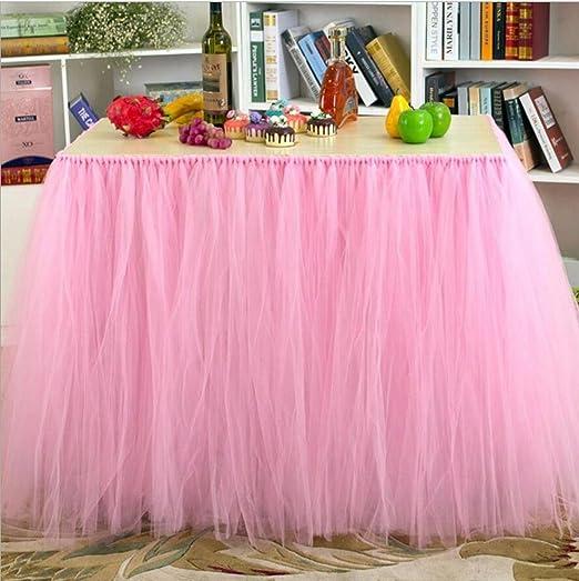 Mesa Tocador falda de tul mantel funda para mesa de fiesta ...
