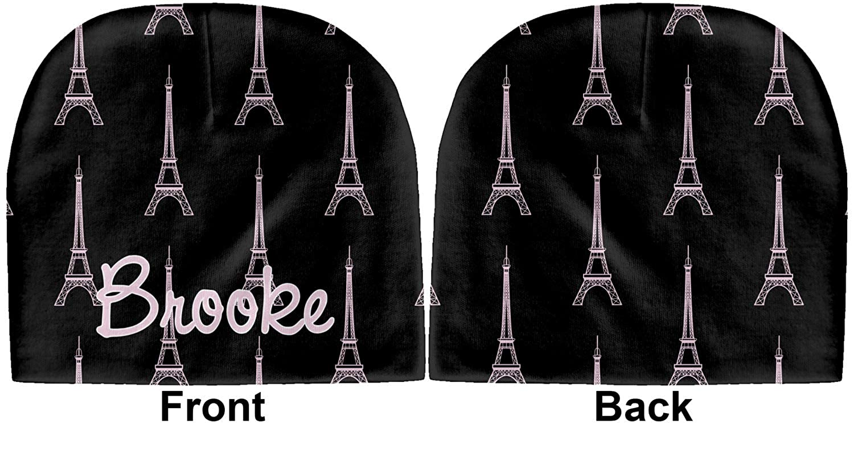 YouCustomizeIt Black Eiffel Tower Baby Hat Beanie Personalized