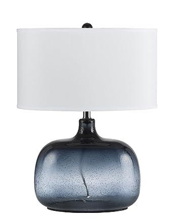 Marvelous CAL Lighting BO 2263TB Christi Navy Blue Glass Table Lamp