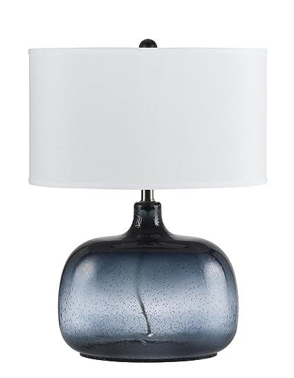 Cal lighting bo 2263tb christi navy blue glass table lamp amazon cal lighting bo 2263tb christi navy blue glass table lamp aloadofball Image collections