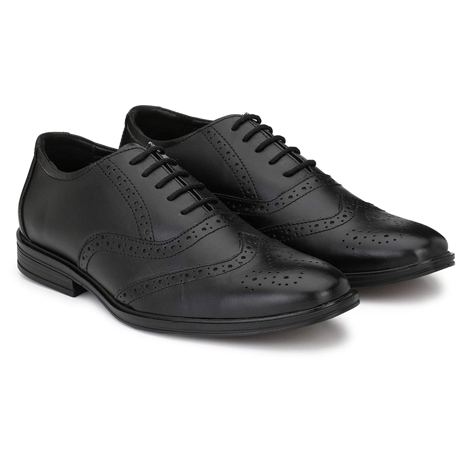8400fbfa101 Nova Shoes Mens Genuine Leather Formal Business Wingtip Brogue Oxford Shoes   Buy Online at Low Prices in India - Amazon.in