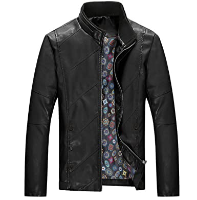 Kissing Fire Mens Leather Jacket Biker Men Jacket Fashion PU ...