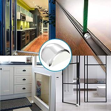 ACGAM Tope para Puertas (Topes Puerta Adhesivo Suelo, 4 pcs), Color Transparente Decorativo, Autoadhesivo Protección de Pared y Muebles: Amazon.es: Bricolaje y herramientas