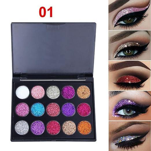 Beauty & Health Beauty Essentials Hot Sale Cmaadu 4 Coloful Glitter Eyeshadow Makeup Powder Palette Women Smoky Eyes Metallic Shimmer Eye Shadow Green Blue Purple Cosmetic