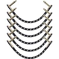 Cables de pedal de efecto de guitarra, de 15,4 cm (6 pulgadas -1/4), cables para pedales de instrumento de efecto…