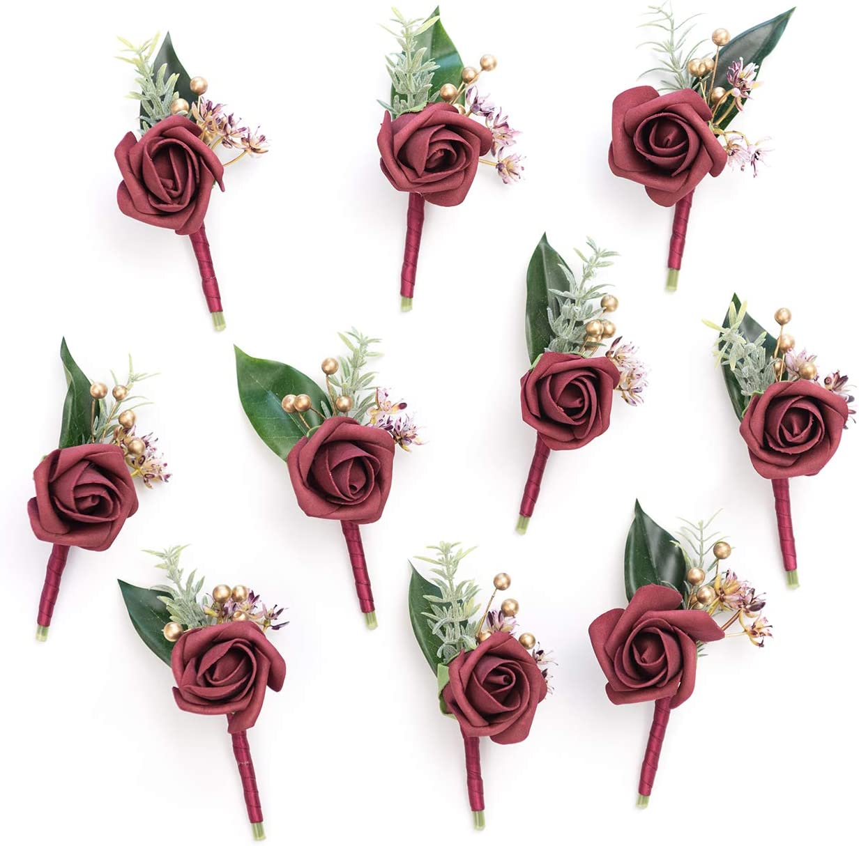 Groomsman boutonniere man boutonniere Rustic boutonniere Burgundy flower boutonniere