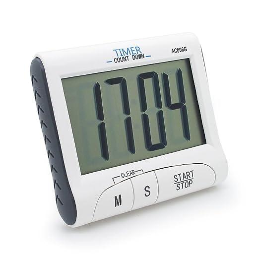 20 opinioni per Kings & Queens AC006-1G- Timer da cucina digitale elettronico con ampio display,