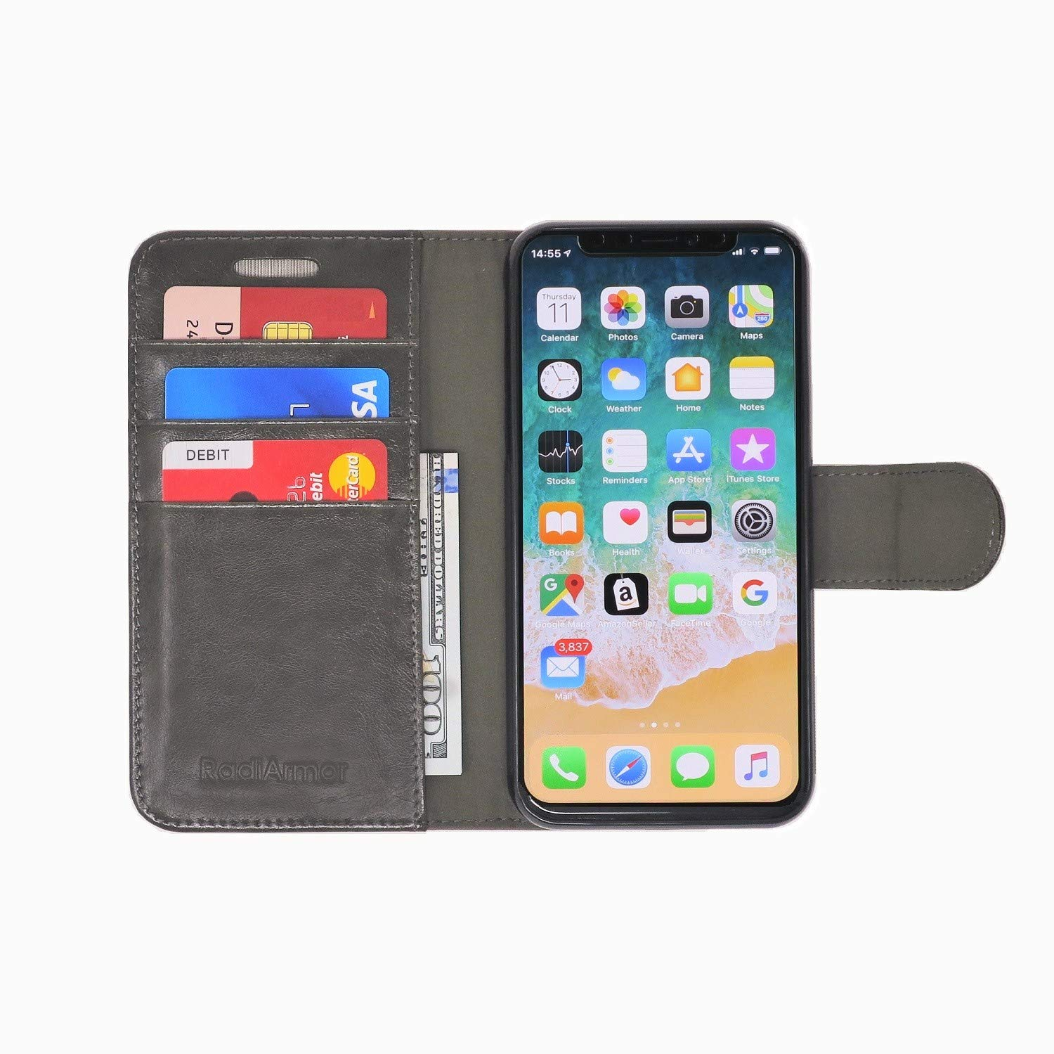 RadiArmor Anti-Radiation Case - Compatible with iPhone X/Xs - Lab Certified EMF Protection (Slate) by RadiArmor