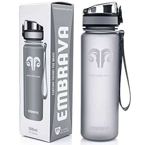 5a22bc0fb8c Best Sports Water Bottle - 18oz Small - Eco Friendly   BPA-Free Plastic -