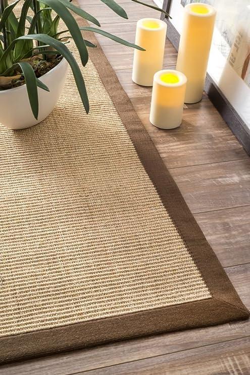 Rugs USA Alfombra de Fibra de algodón Natural con Borde de sisal de Espiga, Color marrón, 2,4 m x 3 m: Amazon.es: Juguetes y juegos
