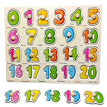 Amazon.com: Pizarra de madera con bloques de alfabeto ...