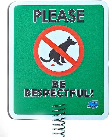 Amazon.com: Letreros de caca para perro para patio | Evita ...