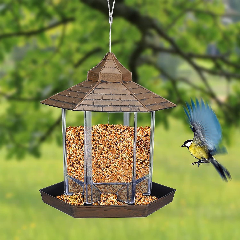 Wild Bird Feeder Squirrel Proof Outdoor Garden Food Tree Hanging Container