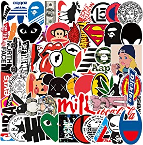 Selinoy Cool Brand Stickers- 113 PCS Vinyl Waterproof Brand Sticker for Laptop Stickers Motorcycle Bicycle Skateboard Luggage Decal Graffiti Patches (113pcs)