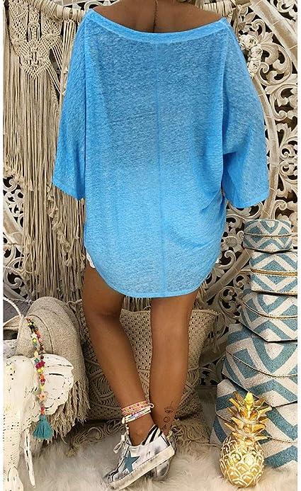 Battnot Damska Bikini Cover-Ups Sommerkleider Elegant Grosse Grössen Vintage Solide Baggy Blusen, Frauen Sexy Kurzarm V-Ausschnitt Retro Sommer Strand Festlich Hochzeit Feiertags Kleid Womens Dress: Odzież