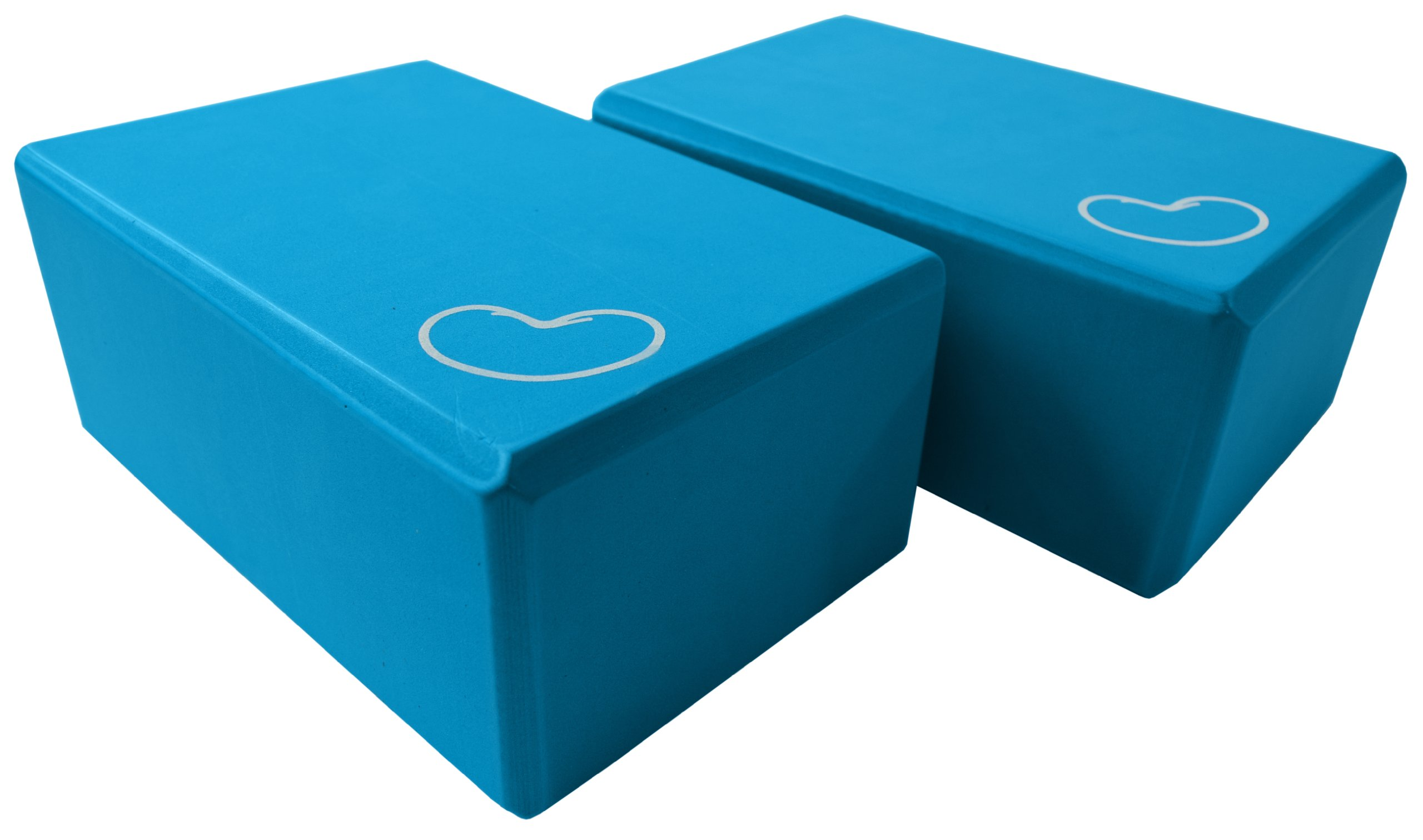 Bean Products Blue - 2 Pack - EVA Yoga Block - 3 x 6 x 9 inches