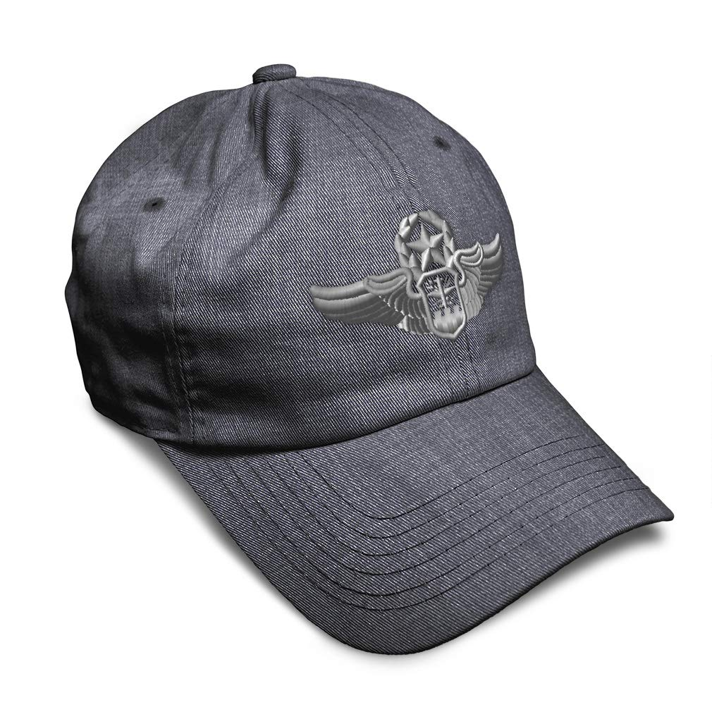 Custom Soft Baseball Cap Master Navigator Insignia Embroidery Twill Cotton