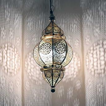 albena shop 71-0195 Kaja orientalische Lampe H 50cm/ø 23cm (silber ...