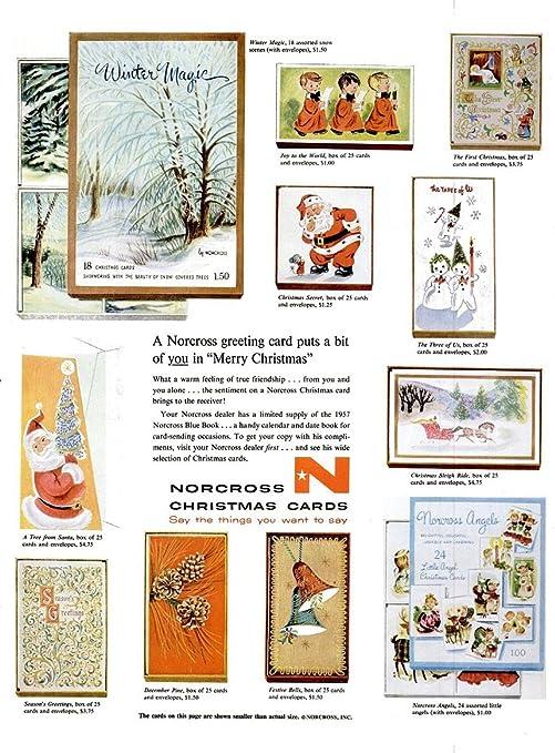 amazon com original print ad 1956 norcross christmas cards a