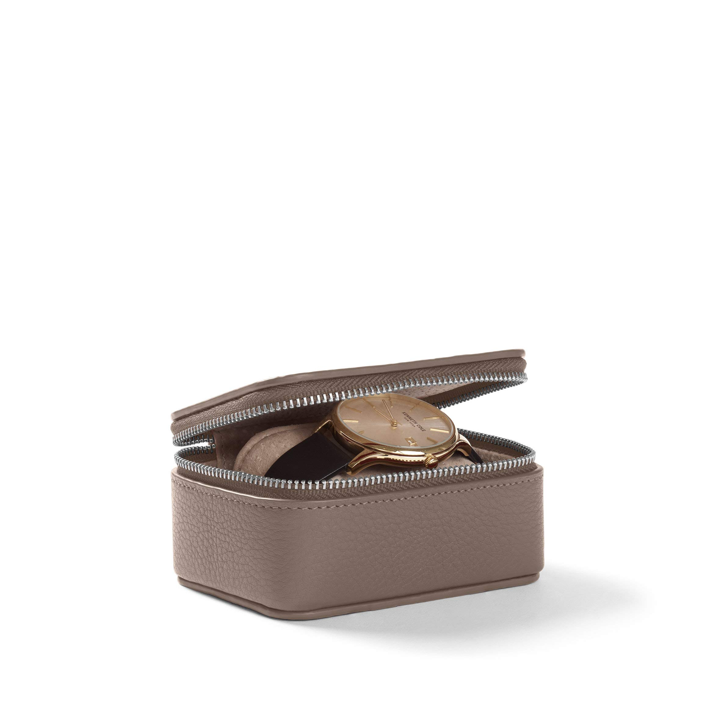 Travel Watch Box - Full Grain Leather Leather - Taupe (Beige)