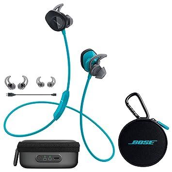 bose in ear headphones wireless. bose soundsport wireless in-ear headphones - aqua \u0026 charging case bundle in ear
