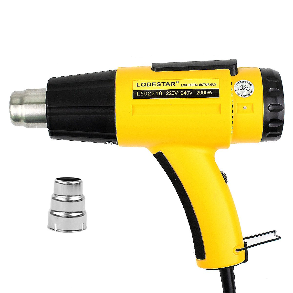 LED Digital Hot Air Gun - Esste 2000W Heat Gun 110V Voltage Adjustable Temperature And Wind Power Suitable for a variety of working range