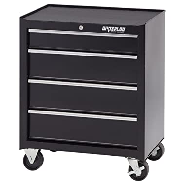 Waterloo 4-Drawer Ball-Bearing Tool Cabinet, 26  W - Designed, Engineered and Assembled in the USA