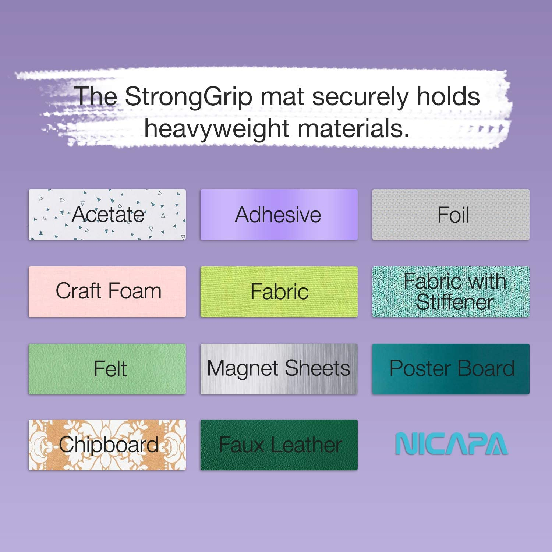 Nicapa - Adhesivo de repuesto para alfombrilla de corte Cricut Morado StrongGrip para Cricut 12 x 12 paquete de 3: Amazon.es: Hogar