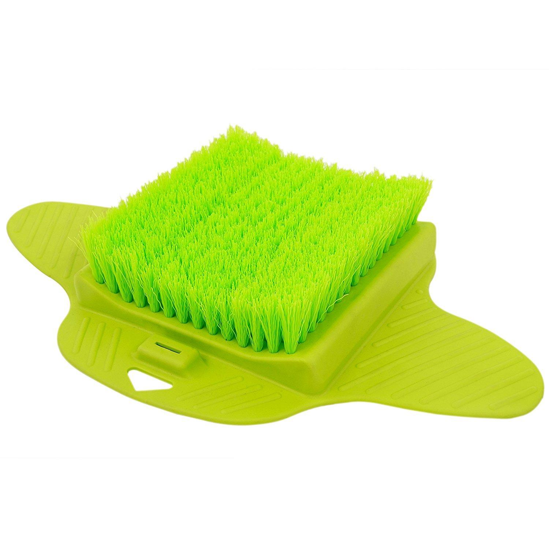 Senchanting Massager Foot Cleaner Bath Brush Scrubber Exfoliating Feet Washer Shower(Green)