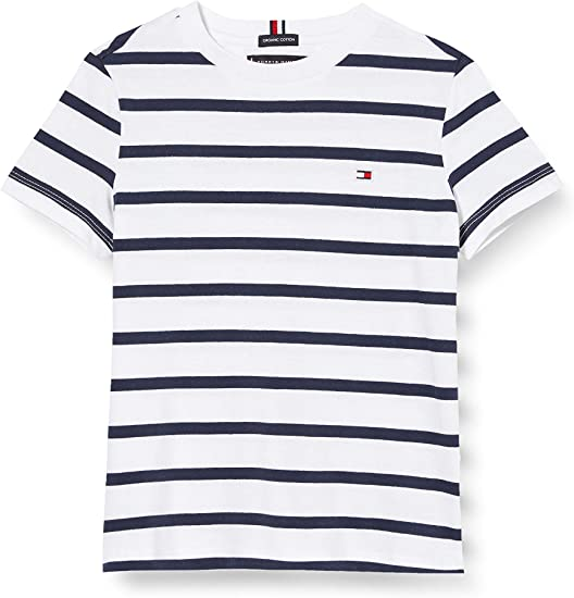 Tommy Hilfiger Nautical Stripe tee S/S Camiseta para Niños