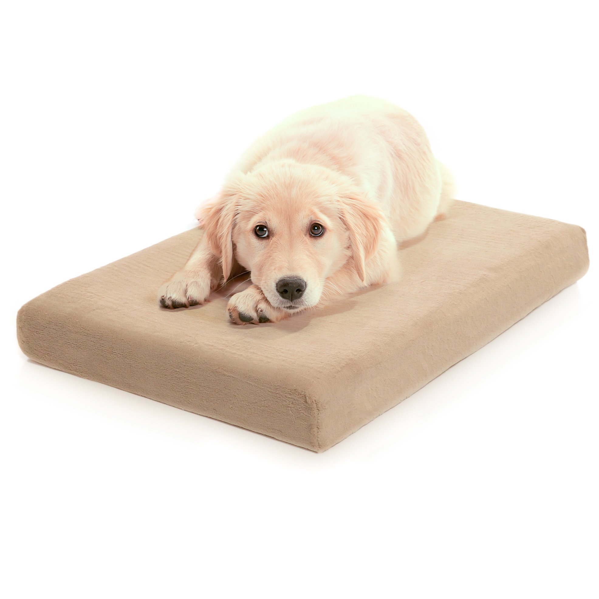 Milliard Premium Orthopedic Memory Foam Dog Bed with Anti-Microbial Waterproof Non-slip Cover, X Large 46x35x4 in by Milliard