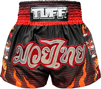 TUFF Muay Thai Boxing Shorts Retro Style MMA Shorts Training Gym Fitness