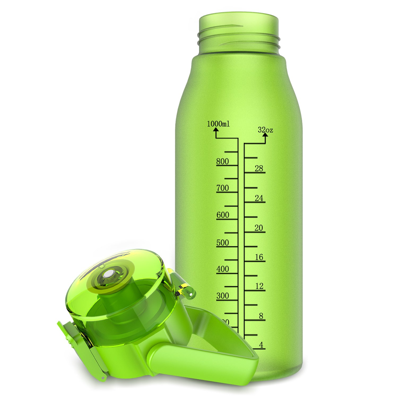 BPA Free FDA Approved 32oz//1L/&50oz//1.5L,Tritan, GITKARL Best Sports Water Bottle
