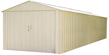 Amazoncom Steel Storage Shed 10 X 30 Ft High Gable Galvanized - Building-storage-sheds