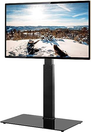 TAVR - Soporte universal para TV de suelo con soporte giratorio de altura ajustable para 32 37