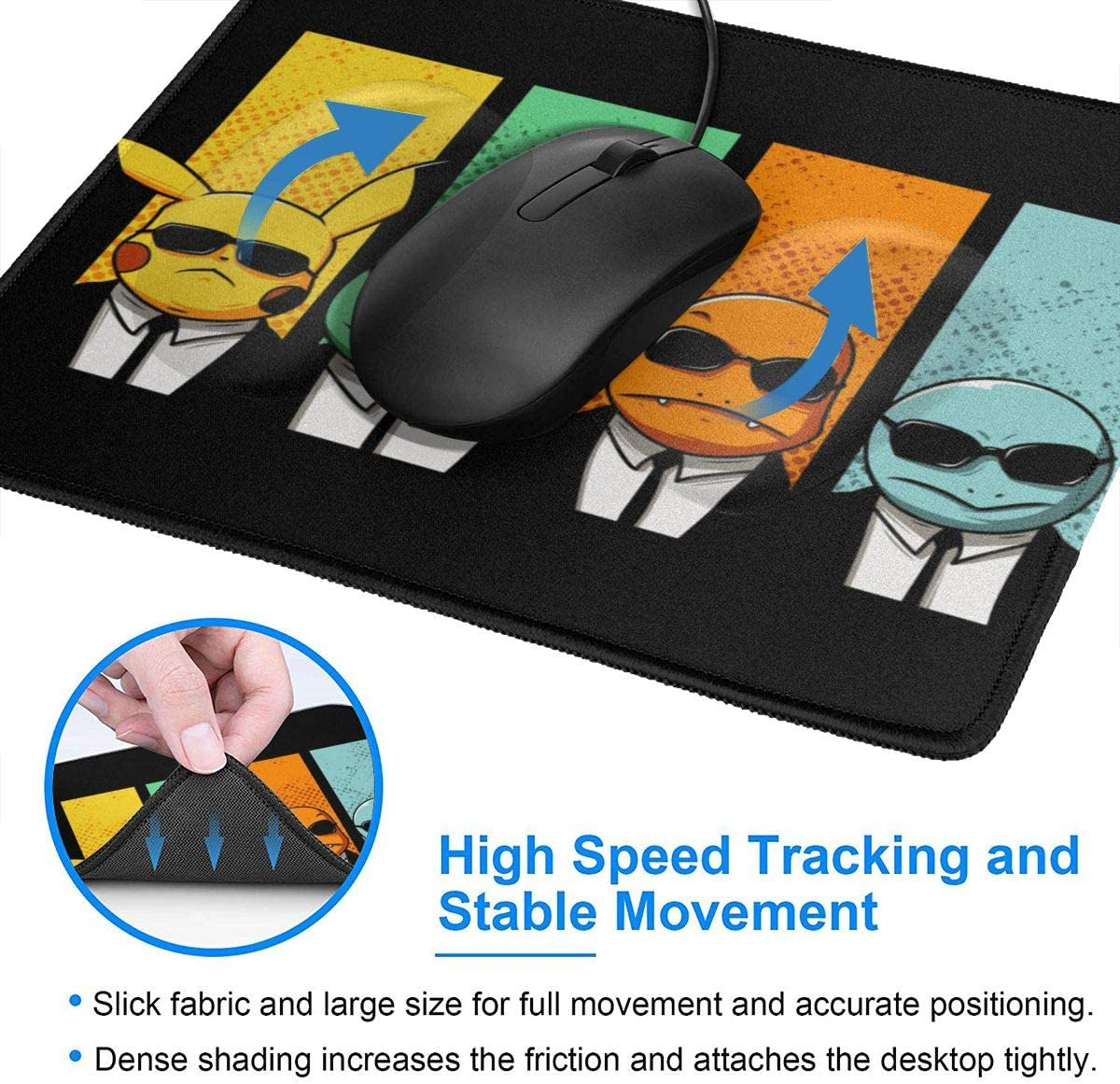 Design Mouse Pad Anti Slip Future Diary Gasai Yuno Yandere Gaming Mouse Pad with Stitched Edge Computer PC Mousepad Rubber Base for Office Home