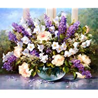 5D Diamond Painting Kit Full Drill DIY Rhinestone Embroidery Cross Stitch Arts Craft for Home Wall Decor Flowers 12x16inch
