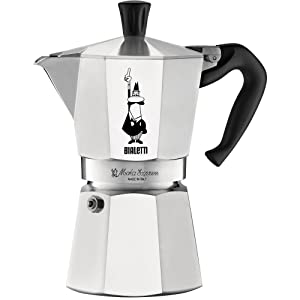 Bialetti 06800 Moka stove top coffee maker 6-Cup Silver
