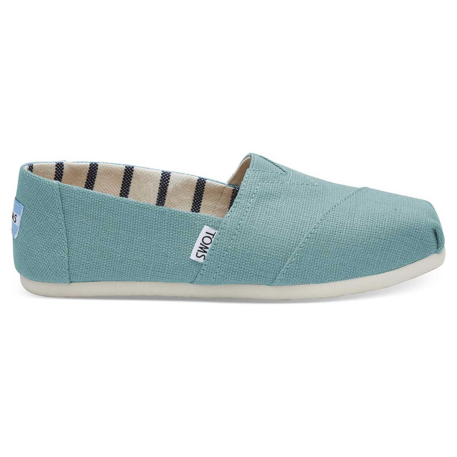 TOMS Women's Marine Blue Heritage Canvas 10011663 (Size: 7)