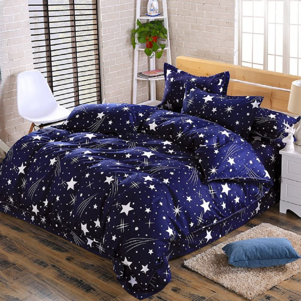 Duvet Cover with Pillow Case Quilt Cover Bedding Set Bed Sheet