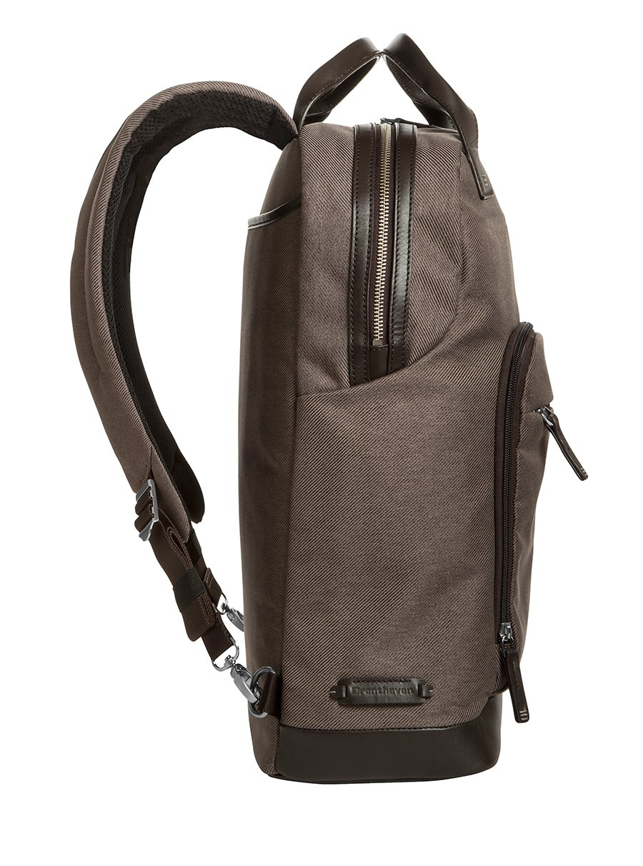 Brenthaven Medina 15.4-Inch Laptop Backpack | Polyester & Leather, Zippered Pockets, Tuck Away Straps | Fits 15.4 Inch Laptop, Chromebook, Macbook, Microsoft Surface by Brenthaven (Image #4)