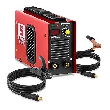 Soldadora Electrodos Soldadora Inverter Maquina de Soldar MMA (160 A, IGBT, Hot Start, Pantalla LED, incl. accesorios) Stamos Germany: Amazon.es: Bricolaje ...