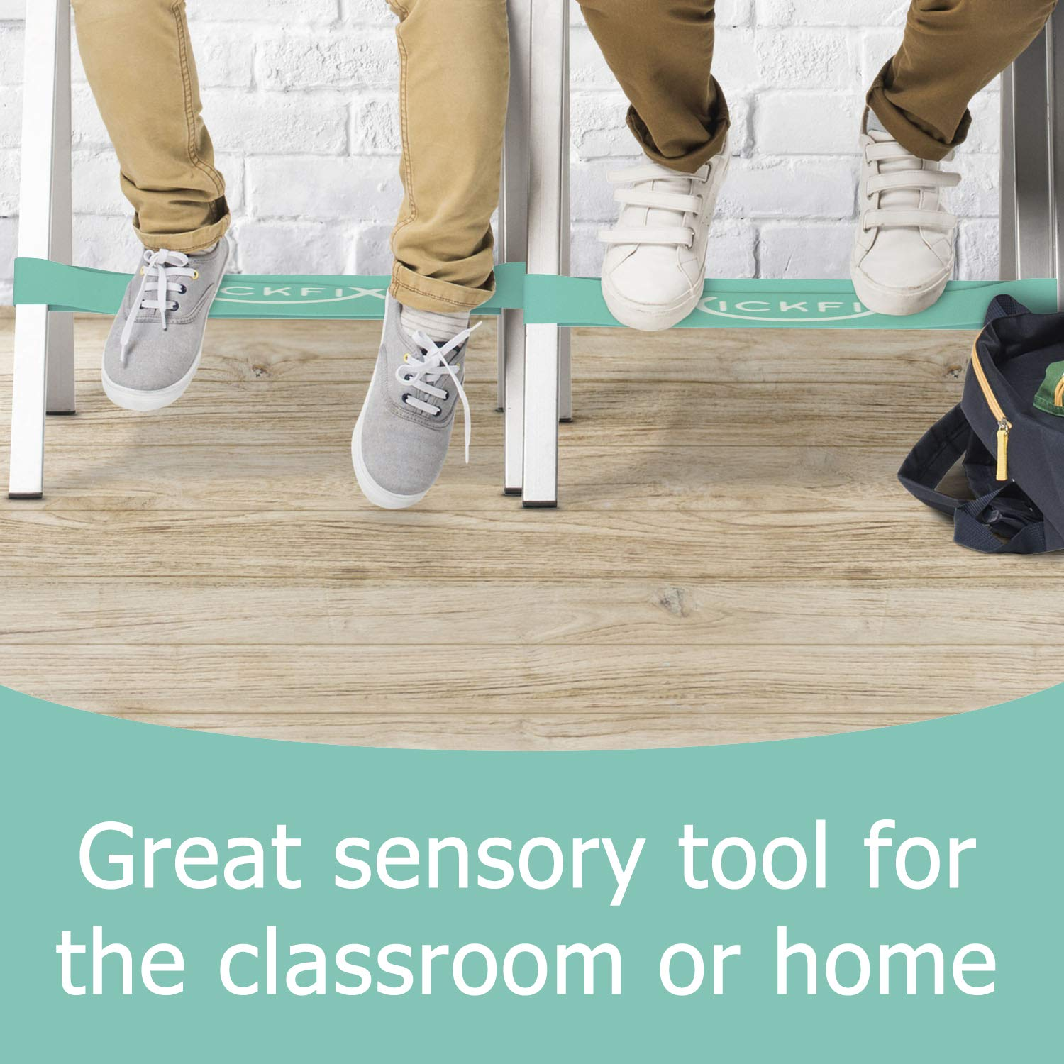 Fidget Chair Bands for Kids - Flexible Seating Classroom Furniture Option for Kids with Fidgety Feet - Bouncy Foot Bands for the Desk or Chair for Students with ADHD, Autism, or Sensory Needs by Kickfix (Image #2)