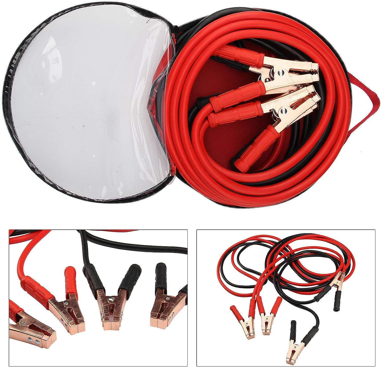 EUROXANTY® Arrancador De Coche | Pinzas de bateria de Coche y Motos | Arranque Kit para Coche con Pinzas | Cable De Refuerzo | Modelo Nuevo (3000 AMP)