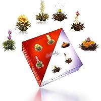 """Creano Theebloemen Mix - """"ErblühTee"""" in een edele geschenkdoos voor het proeven van - met 6 theeballetjes elk 3x witte…"""