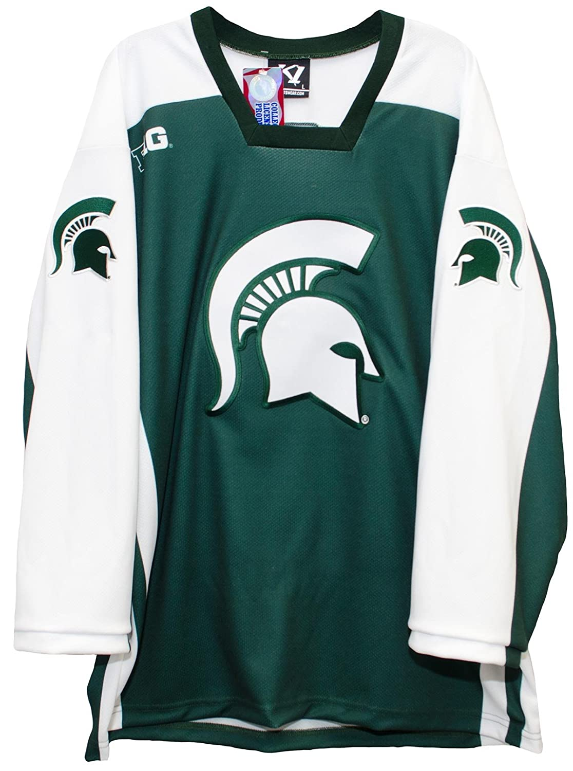 0287fcf2c Amazon.com   K1 Sportswear Michigan State Spartans Men s Hockey Jersey    Sports   Outdoors