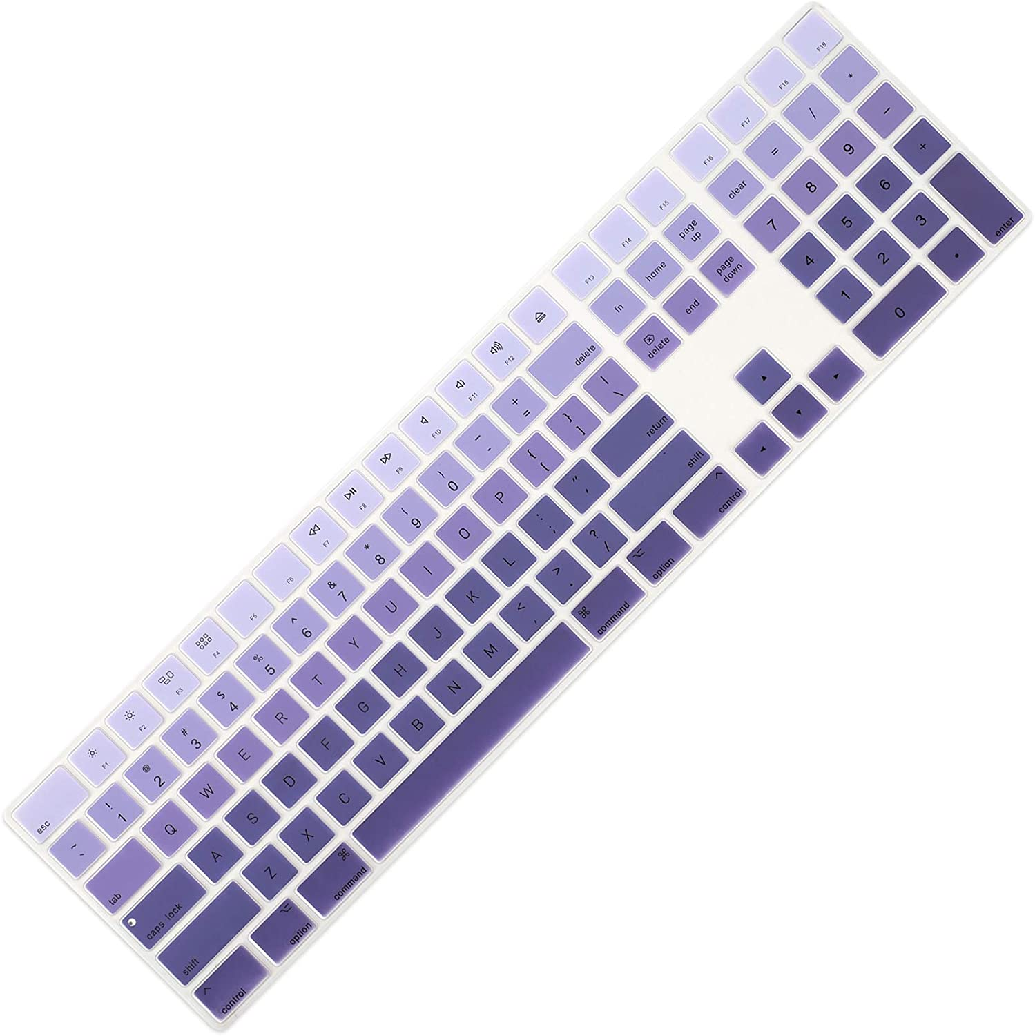 Allinside Ombre Deep Purple Cover for Apple iMac Magic Keyboard with Numeric Keypad MQ052LL/A A1843 US Layout
