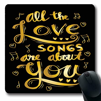 Amazoncom Ahawoso Mousepads Greeting Drawn All Love Songs