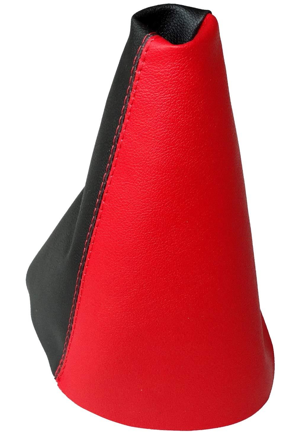 AERZETIX negro con costuras rojo Funda para palanca de cambios de piel sint/ética con costuras de colores variables